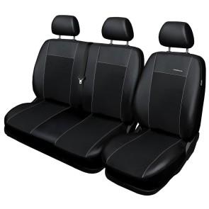 Autopoťahy PREMIUM pre VW LT BUS 2+1, 335 ČIERNE